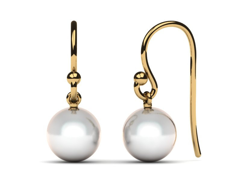 Japanese Akoya Cultured Pearl French Wire With Loop Earring