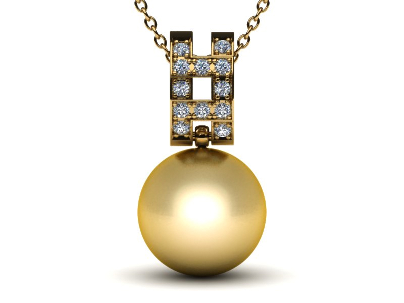 Phila a Golden South Sea Pearl Pendant