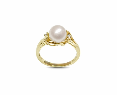 Phoebe a Japanese Akoya Cultured Pearl Ring