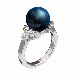 Princess Tahitian Pearl Ring