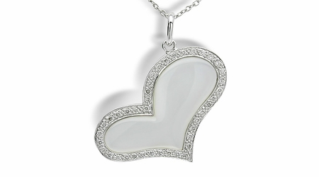 Pure Heart a Mother of Pearl Pendant