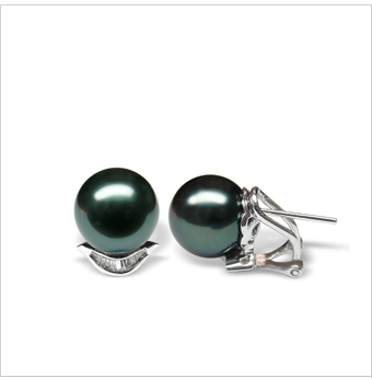 Queenie a Black Tahitian South Sea Cultured Pearl Earring
