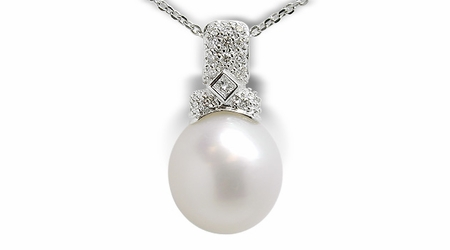 Renata a Australian White South Sea Cultured Pearl Pendant