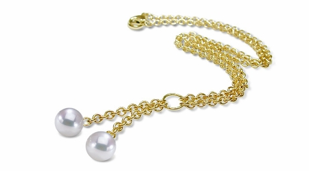 Rolo a Japanese Akoya Cultured Pearl Pendant