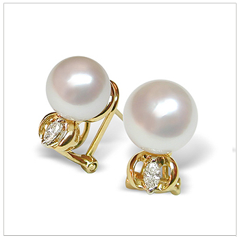 Sarotta a White Australian South Sea Cultured Pearl Earring