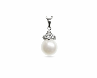 Scarlet a White South Sea Cultured Pearl Pendant