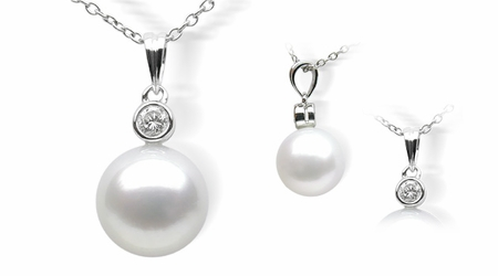 Single Pearl a White South Sea Cultured Pearl Pendent
