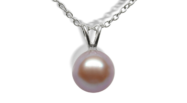 Single V Lavender Freshwater Cultured Pearl Pendant