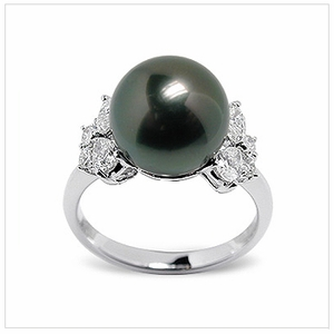 Siona Black Tahitian Cultured Pearl Ring