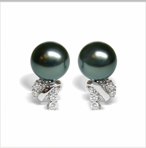 Sophia Black Tahitian Cultured Pearl Earrings