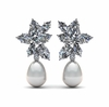 South Sea Cluster Drop Pearl Earring