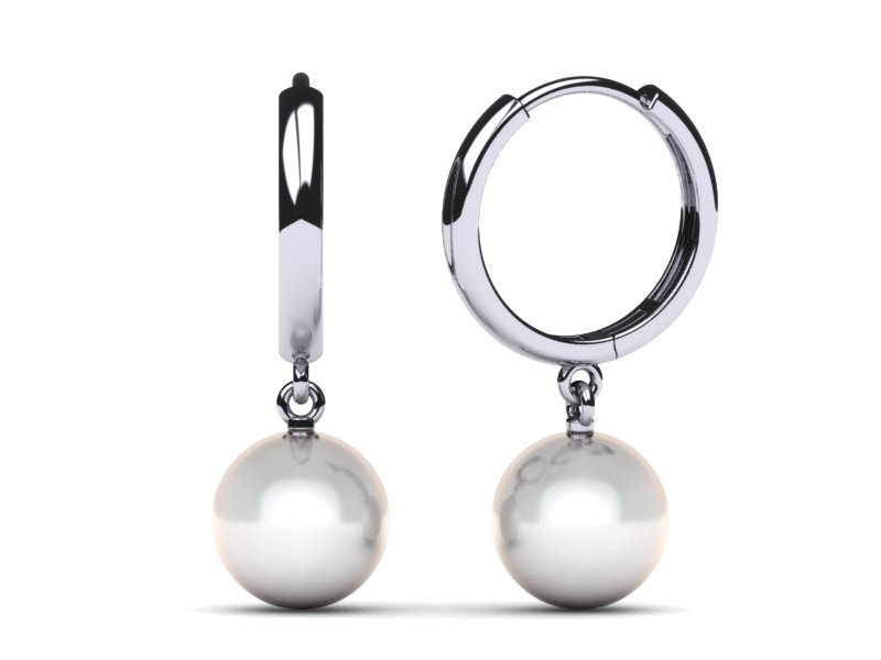 South Sea Pearl 13mm Hoop Earring