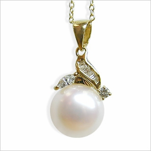 South Sea Pearl Apple Pendant