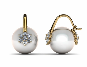 South Sea Arc De Triomphe Double Blossom Pearl Earring