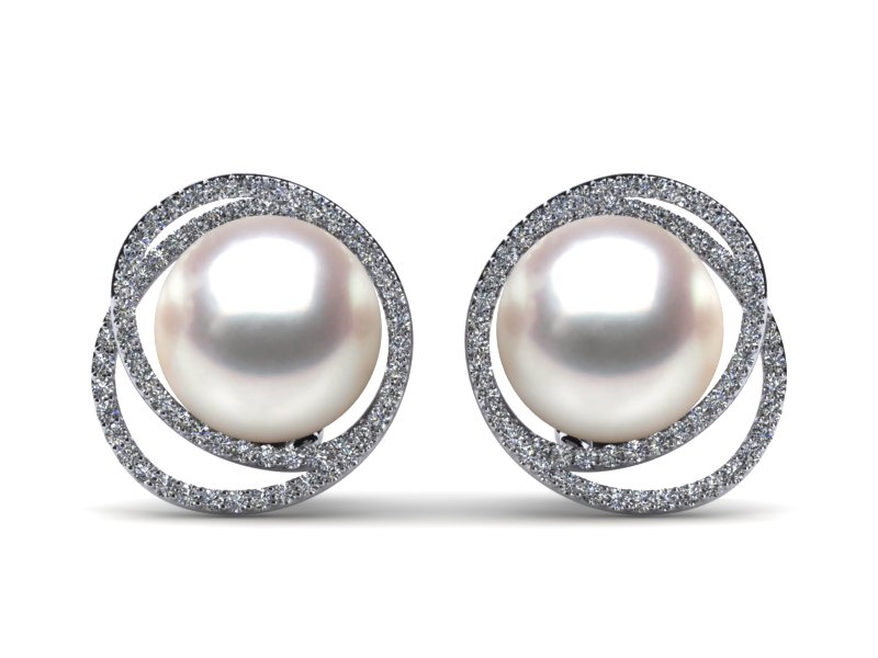 South Sea Pearl Continuous Earring
