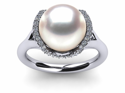 South Sea Pearl Cradle Ring