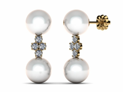 South Sea Pearl Cross Earring