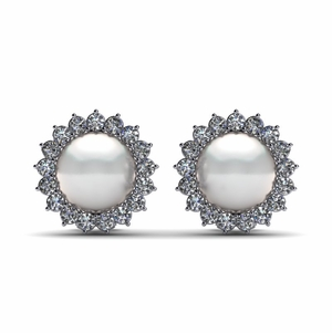 South Sea Pearl & Diamond Surround Earring