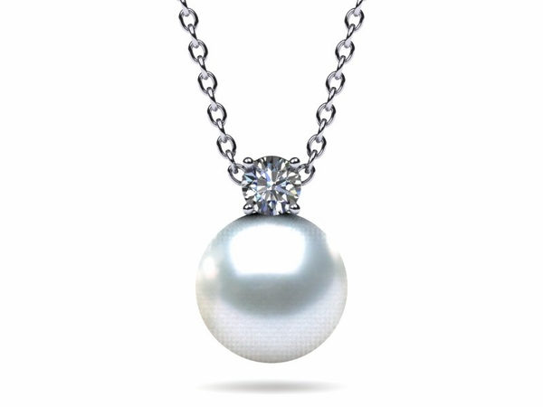 South Sea Pearl & Diamond Timeless Pendant