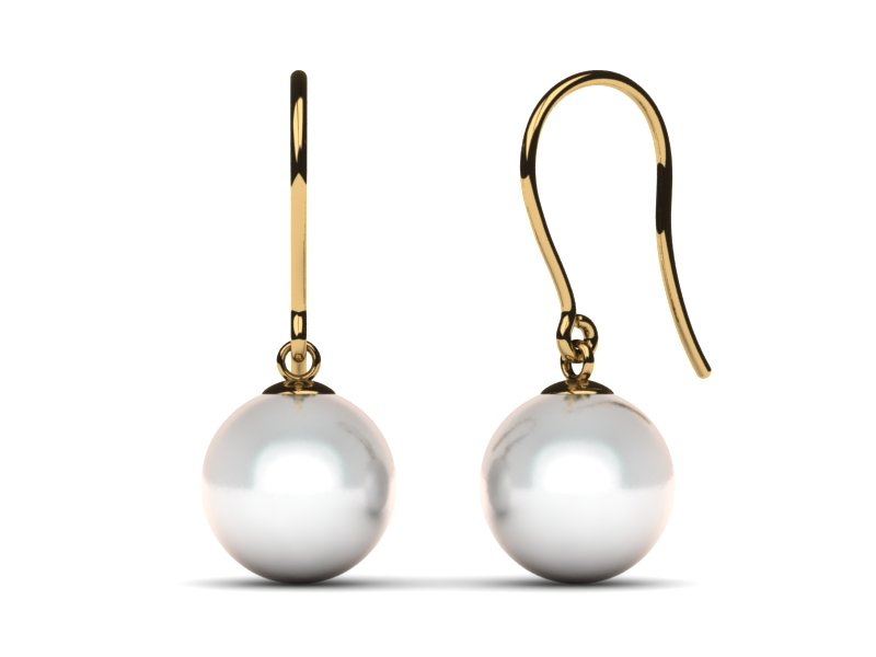 South Sea Pearl Earring Shepherds Hook
