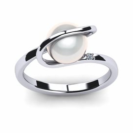 South Sea Pearl Halo Ring