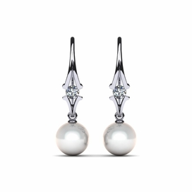 South Sea Pearl Journey Earring .32 carats t.d.w.