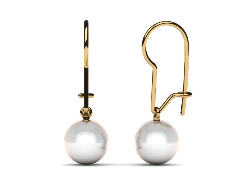 South Sea Pearl Kidney Wire Earring