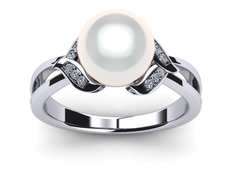 South Sea Pearl Leaf Ring