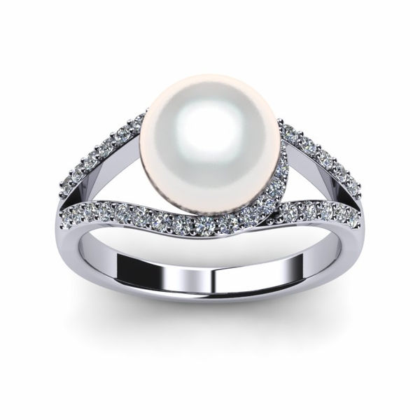 South Sea Pearl Luna Ring