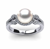 South Sea Pearl Promise Ring