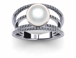 South Sea Pearl Ring White Gyroscope Style
