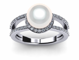 South Sea Pearl Ring Halo II Style