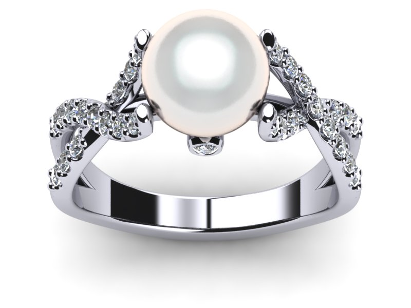 South Sea Pearl Ring Open Flow
