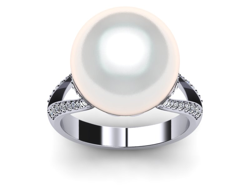 South Sea Pearl Ring Vintage Style
