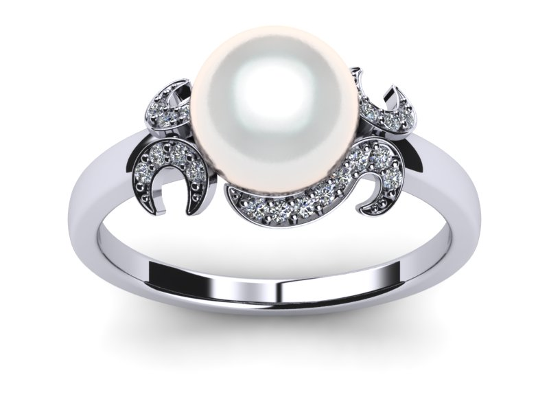 South Sea Pearl Ring White Crest Style