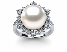 South Sea Pearl Diamond Classic Ring
