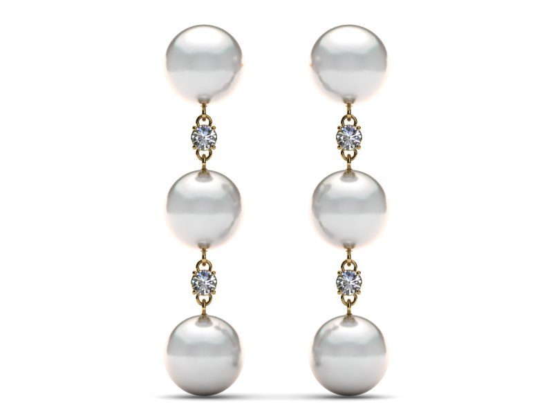 South Sea Triple Dangle Pearl Earring