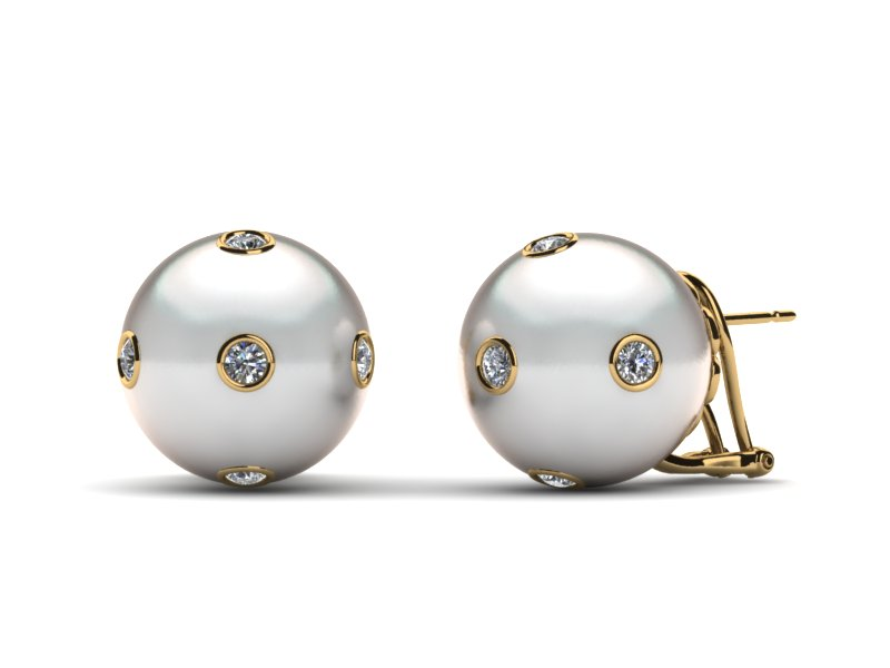 Starry White South Sea Pearl Earring