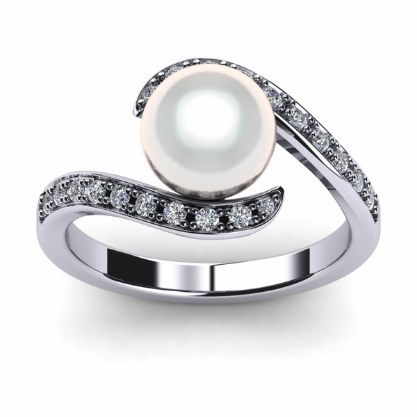 Swirl South Sea Pearl Ring