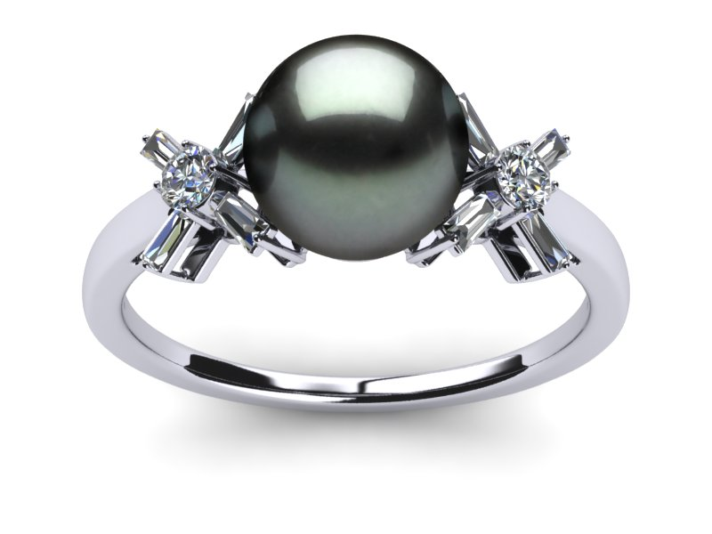 Tahitian Pearl Butterfly Ring