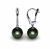 Tahitian Pearl Diamond Dangle Earring