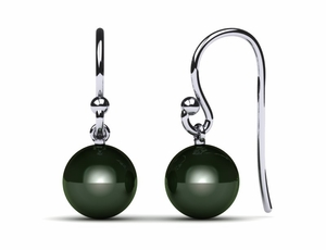Tahitian Pearl French Wire with Loop Cultured Pearl Earring