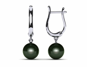 Tahitian Pearl Earring High Polish French Clip