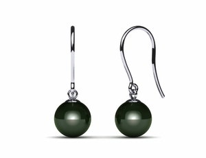 Tahitian Pearl Earring Lightweight Shepherds Wire