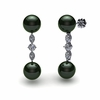 Tahitian Pearl Earring Marquise Round Drop