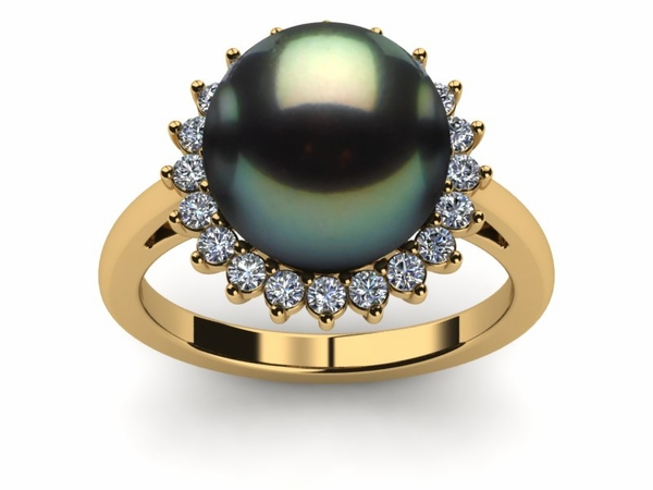 Tahitian Pearl Grand Sunflower Style