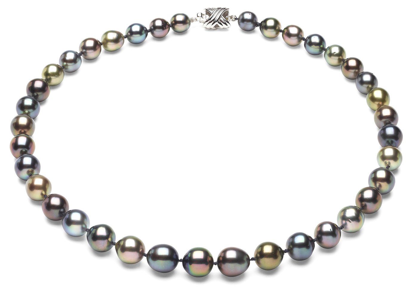 Tahitian Pearl Necklace Serial Number   8mm10mm-pearl-necklace-true-aaa-16inch-s6-sbshbc-tahitian-multi-color-b39