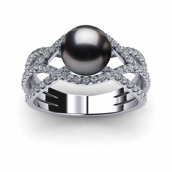 Tahitian Pearl Rainbow Ring