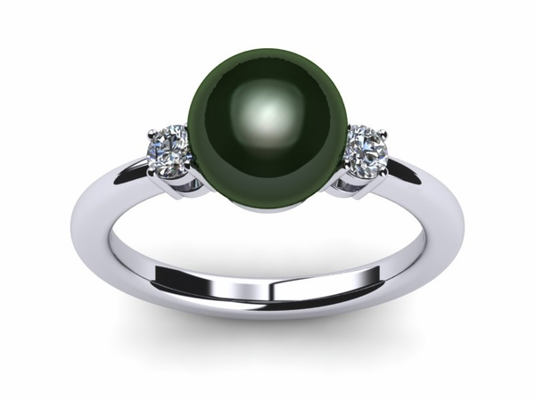 Tahitian Pearl Ring Grace Custom