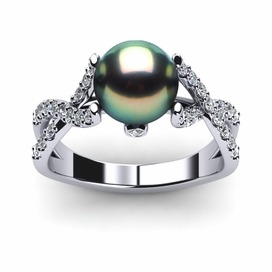 Tahitian Pearl Ring Open Flow